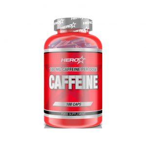 HERO TECH CAFFEINE (100mg cafeína natural caps) 100 caps.