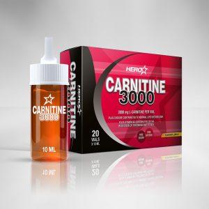 HERO TECH CARNITINE 3000 20 vials - Limón o Fruta del bosque 20 vial x 10 ml-caja-cerrada