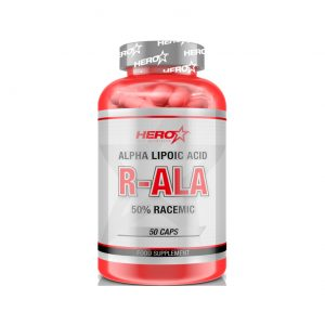 HERO TECH R-ALA (Acido alfa lipoico 50% racémico) 50 caps