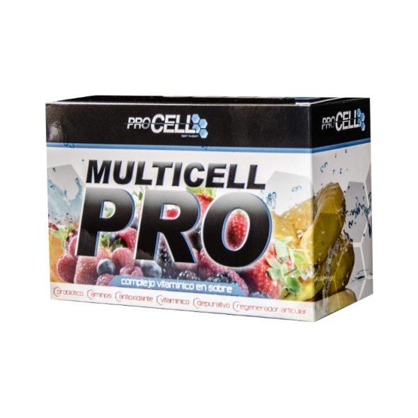 PROCELL Multicell PRO 30 sobres sabor frutos rojos