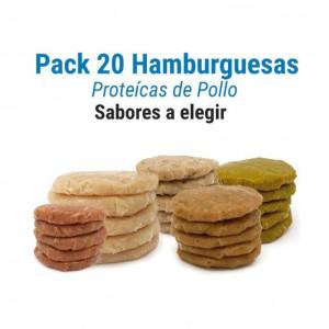Pack 20 hamburguesas protéicas de pollo